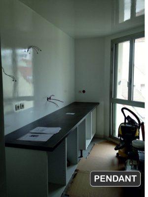 Rénovation cuisine Val-d'Oise - Travaux pendant * BTP-Design®
