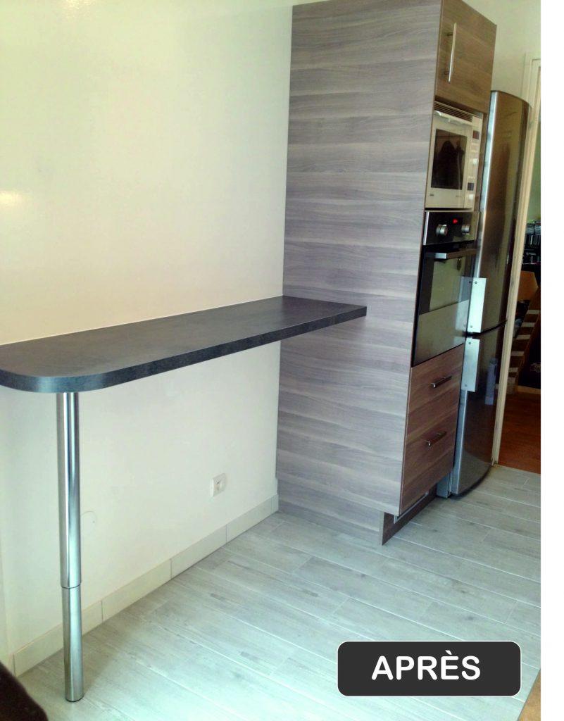 Rénovation cuisine Val-d'Oise - Travaux après * BTP-Design®