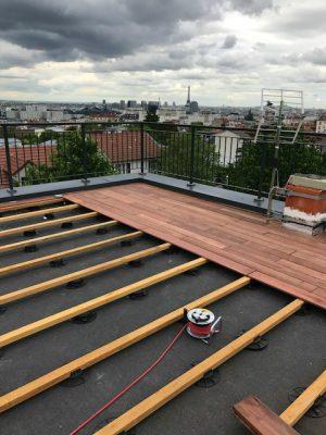Rénovation terrasse Hauts de Seine 92 - Travaux pendant * BTP-Design®
